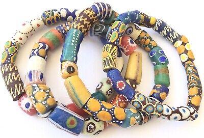 Handmade Ghana Fashionable multi Colored bracelet-African Trade Beads-Ghana