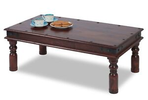High Quality Sheesham Indian Wood Dark Brown Coffee Table