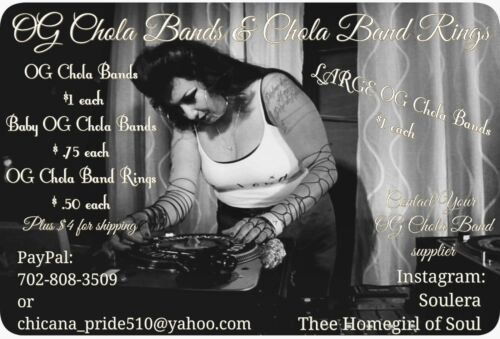 OG Chola Bands - Large Size (Qty. 10) *fits bigger wrists/upper arm area*