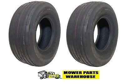 2 NEW 13x5.00x6 13x5.00-6 13 5.00 6 STRAIGHT RIBBED 2 PLY TIRES REPLACE CARLISLE