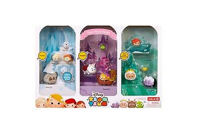 Disney Tsum Tsum Royal Reign Princesses Target Set Little Mermaid Tangled Frozen](Frozen Toys Target)