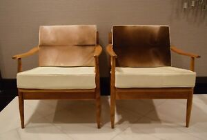 Scandinavian style mid century modern occasional chairs