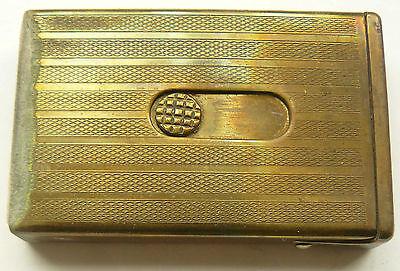 Vintage Brass Matchbox Match Safe Begining XXc.