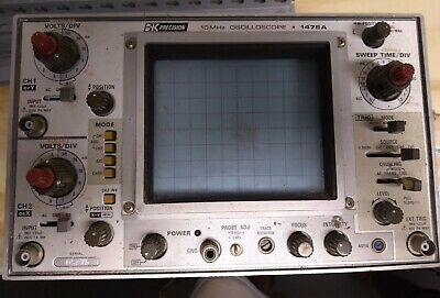Vintage Bk Precision 10mhz Oscilloscope 1476a Used Powers Up