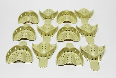 Dental Plastic Disposable Impression Trays Perforated Autoclavable Um 3 12 Pcs