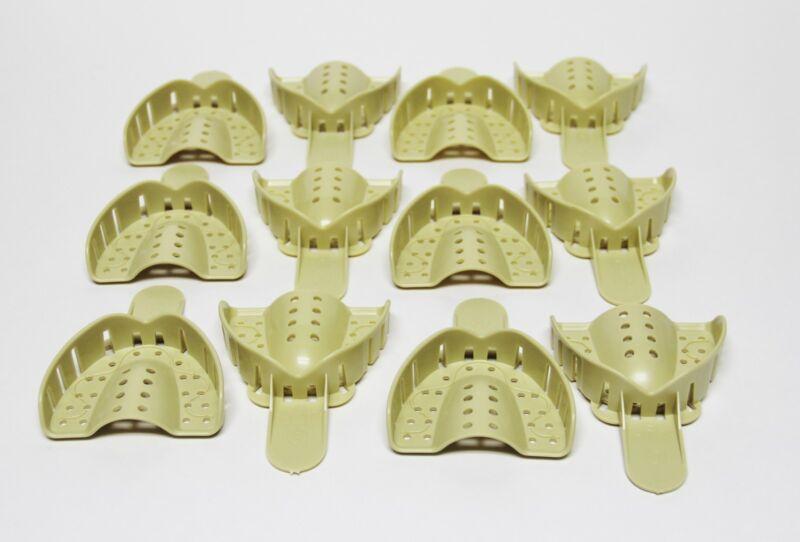 Dental Plastic Disposable Impression Trays Perforated Autoclavable UM #3 12 Pcs
