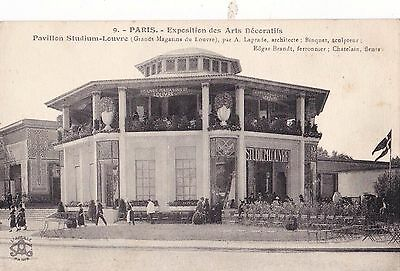 Orig 1925 Paris Exposition des Arts Decoratifs Postcard Art Deco Edgar BRANDT