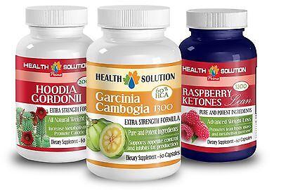 Garcinia Cambogia, Hoodia Gordonii, Raspberry Ketones Lea...