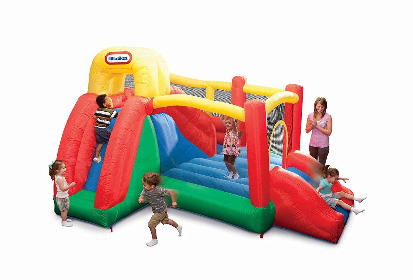 house with slides double inflatable bouncer kids party game