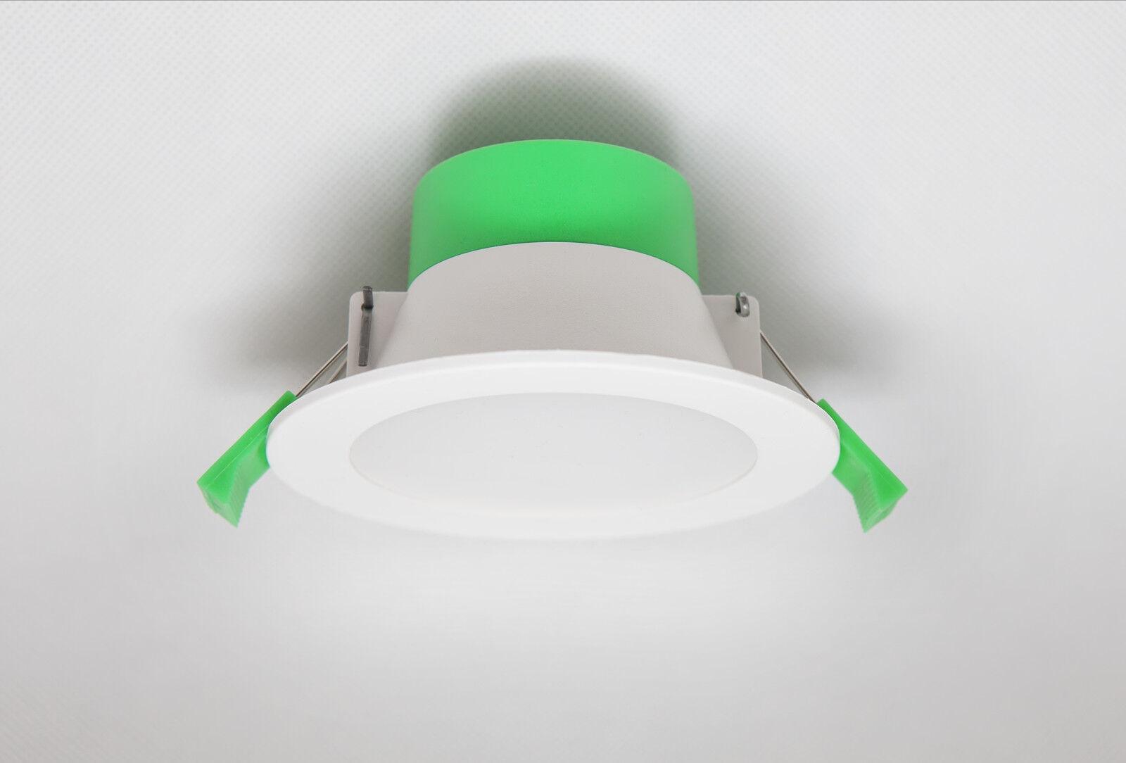 10 x 10W LED DOWNLIGHT KIT WARM & COOL WHITE & SATIN FRAME DIMMABLE NON DIM  down