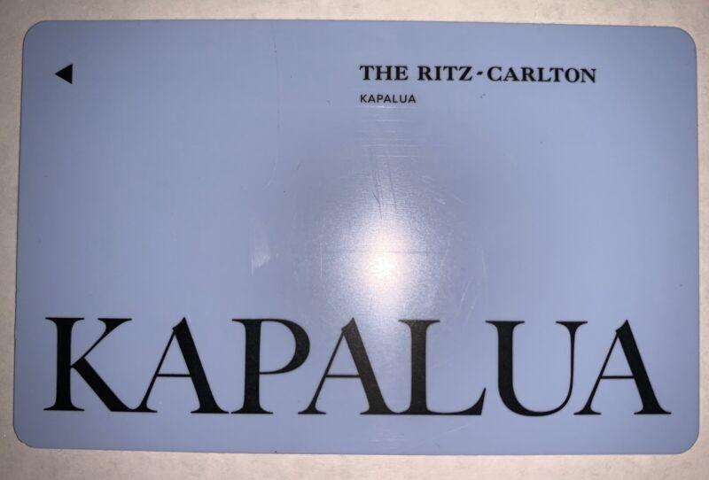 Room Key Card from The Ritz Carlton Kapalua Hotel Island of Maui Hawaii