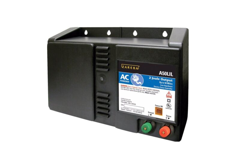 Zareba 50 Mile AC Powered Low Impedance Electric Fence Charger; Energizes up...