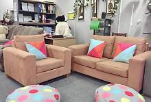 TODAY DELIVERY BEAUTIFUL MODERN BROWNCHOCOLATE 2X1 couch SALE NOW Belmont Belmont Area Preview