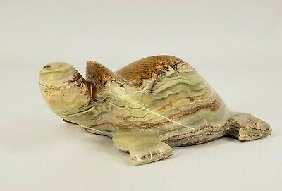 Stone Turtle Carving (Green Onyx?)