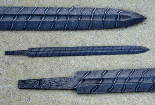 30.0 BEAUTIFUL CUSTOM HANDMADE DAMASCUS STEEL HUNTING SWORD BLANK BLADE