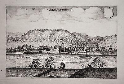 Gieselwerder Weser Hessen echter alter Merian Kupferstich 1646