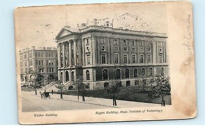 *1907 Walker Erection Rogers Building Institute of Technology Mass Postcard C26