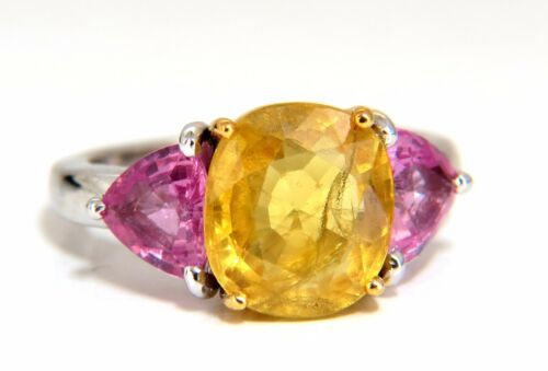 6.55ct Natural Yellow Sapphire Ring 14kt.+