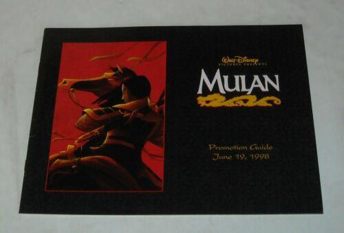 1998 WALT DISNEY MULAN PROMOTION GUIDE MOVIE PRESS BOOK PRESSBOOK ANIMATED