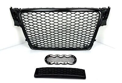 RS4 Grill Look für Audi A4 B8 8K S4 S line Limo Avant Wabengrill Kühlergrill