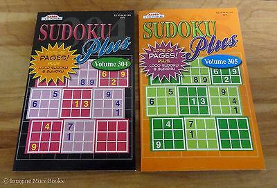 2 New Sudoku Plus Puzzle Book Vol 304 305   Kappa   Loco Sudoku   Sumoku