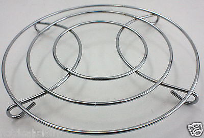 """STAINLESS STEEL CHROME TRIVET WIRE 8"""" ROUND SHAPED HOT PLATE"""