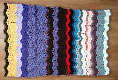 """Handmade 36"""" x 52"""" Crocheted-Acrylic-Baby-cot-pram-blanket-cover- for sale  Shipping to South Africa"""