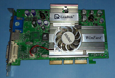 Leadtek  GF4  TI 4200 (Winfast A250LE)  64 MB  128 Bit  DDR1   AGP4x  DVI,VGA