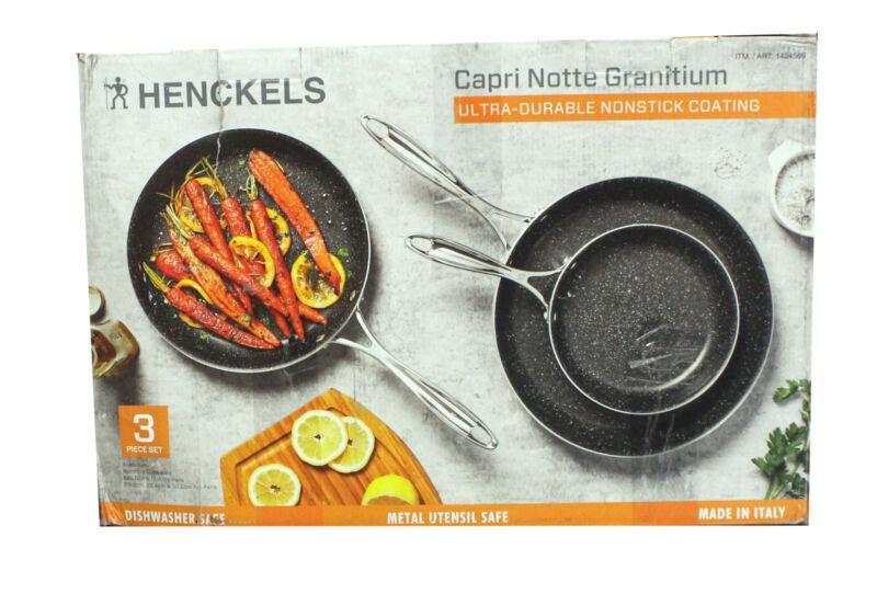 Henckels Capri Notte Granitium Ultra-Durable Nonstick 3 Piece Pan Set(Used Once)