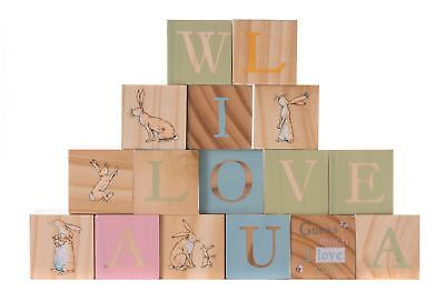- Rainbow Designs GUESS HOW MUCH I LOVE YOU WOODEN PICTURE BLOCKS Baby Toys - NEW