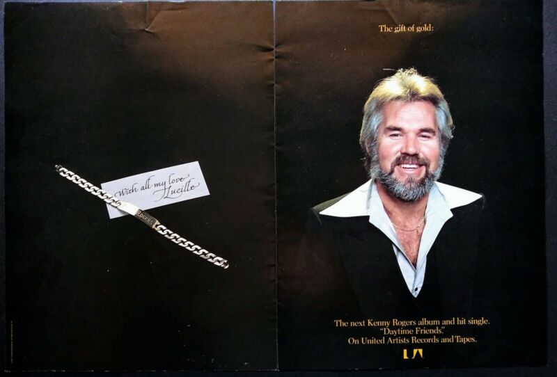 KENNY ROGERS DAYTIME FRIENDS 2 PG 1977 PROMO AD