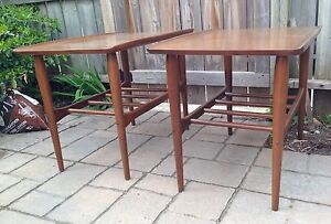 Pair of mid century side/end tables