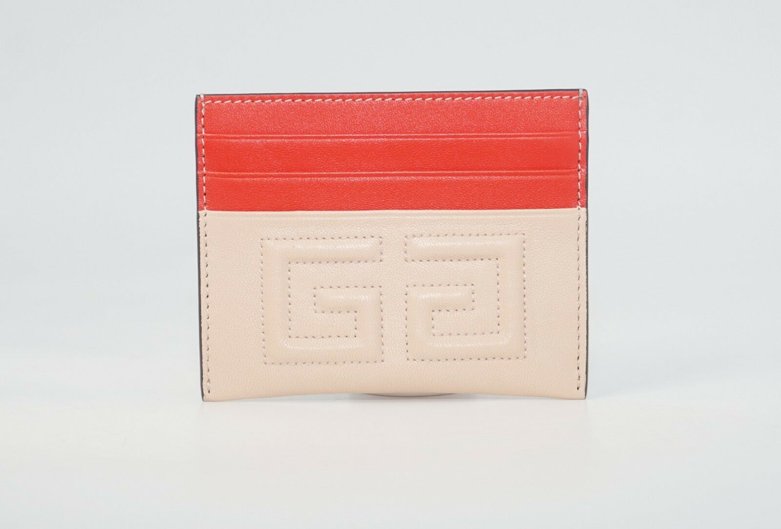 Givenchy Men's Embroidered 2G Emblem Two-Tone Leather Card C