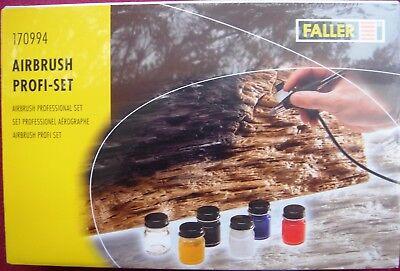 FALLER 170994 AZTEK Airbrush PROFI-SET  / SINGLE ACTION / NEU