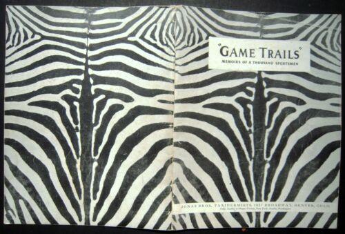 "1939 Jonas Bros. Advertising Taxidermy Catalog ""Game Trails"""
