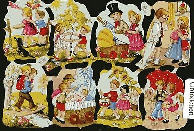 # GLANZBILDER # Krüger 98-06, süßer Kinder - Bogen, Klassiker von Krüger , rar