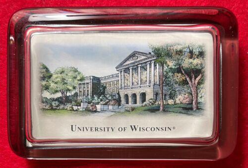 """University of Wisconsin, Madison Paperweight - Glass - 4.4"""" x 2.9"""" - Beautiful"""