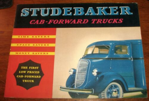 1937 Studebaker Trucks Cab-Forward Original Sales Brochure w/ Pictures COE