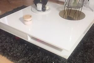 Glossy White Coffee Table Centennial Park Eastern Suburbs Preview