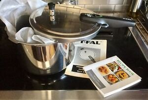NEARLY NEW T-FAL STAINLESS PRESSURE COOKER
