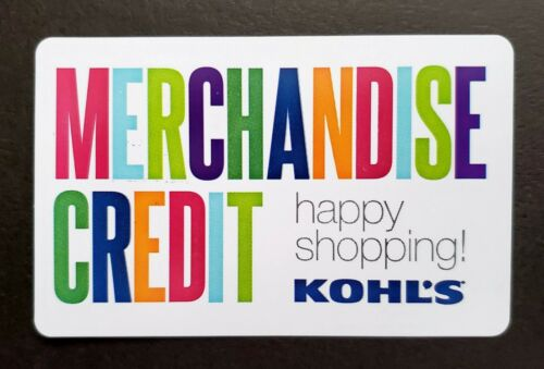 Kohl s Gift Card / Merchandise Credit 15.89 - $13.99