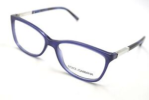 Dolce & Gabbana Glasses Frames DG 3107 1847 Blue & Silver 54mm