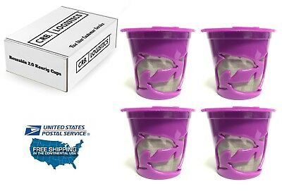 (4 Reusable K-Cups, Refillable K Cup Coffee Filters For Keurig 2.0 and 1.0 NEW)
