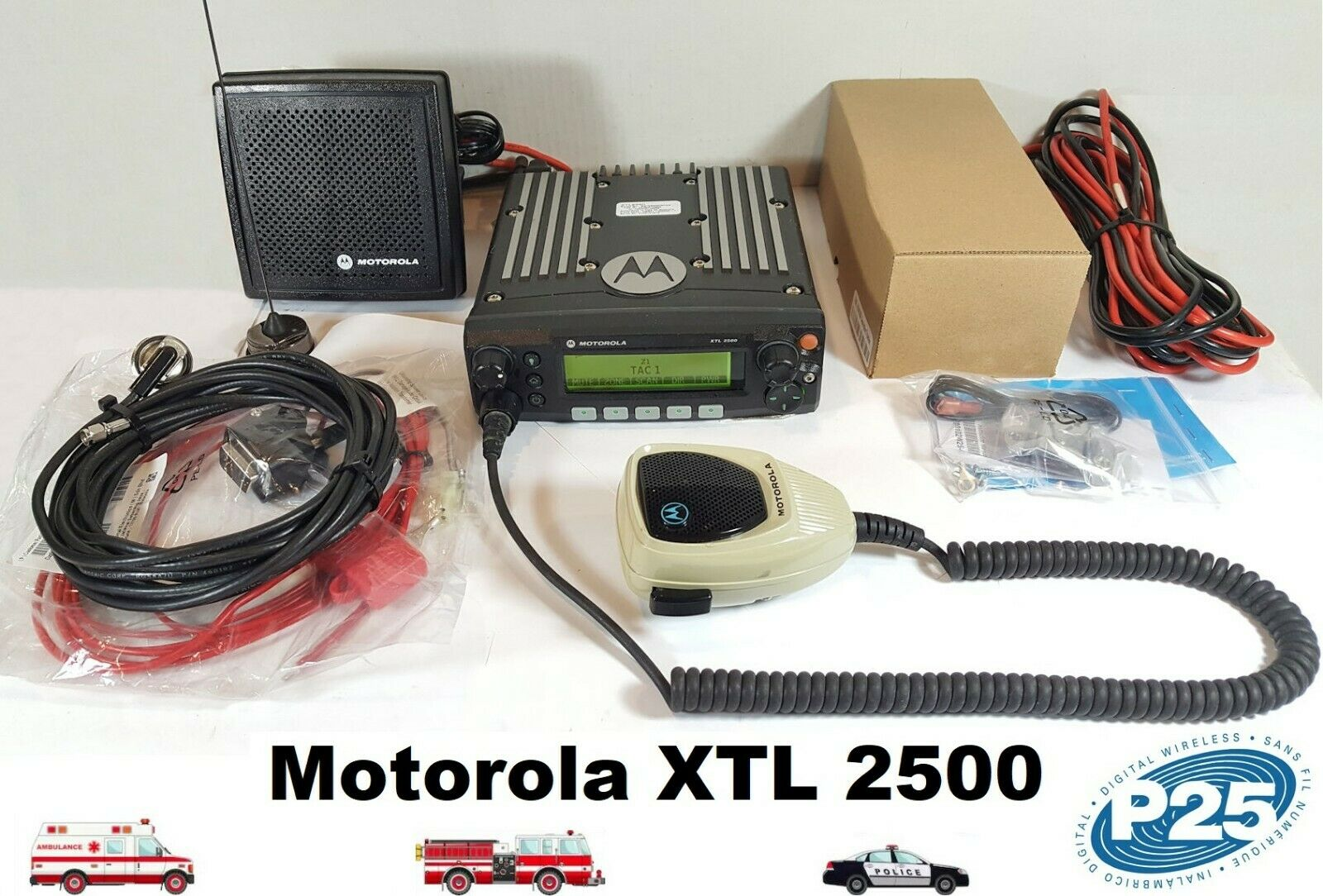Motorola XTL2500 VHF 136-174 MHz SmartZone P25 Digital Mobile Radio M21KSM9PW1AN. Buy it now for 449.00