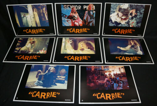 Carrie Lobby Card 8pc Set - De Palma Sissy Spacek Stephen King (C-7 / C-8) 1976