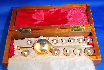 A boxed antique boxed Sikes hydrometer with full set of weights by G.H. Zeal