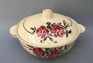 Ancienne soupi re en porcelaine avec couvercle d co vintage french antique - Vasque ancienne en porcelaine ...
