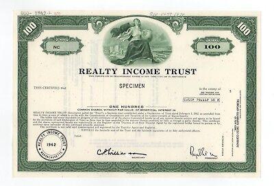 Specimen   Realty Income Trust Stock Certificate