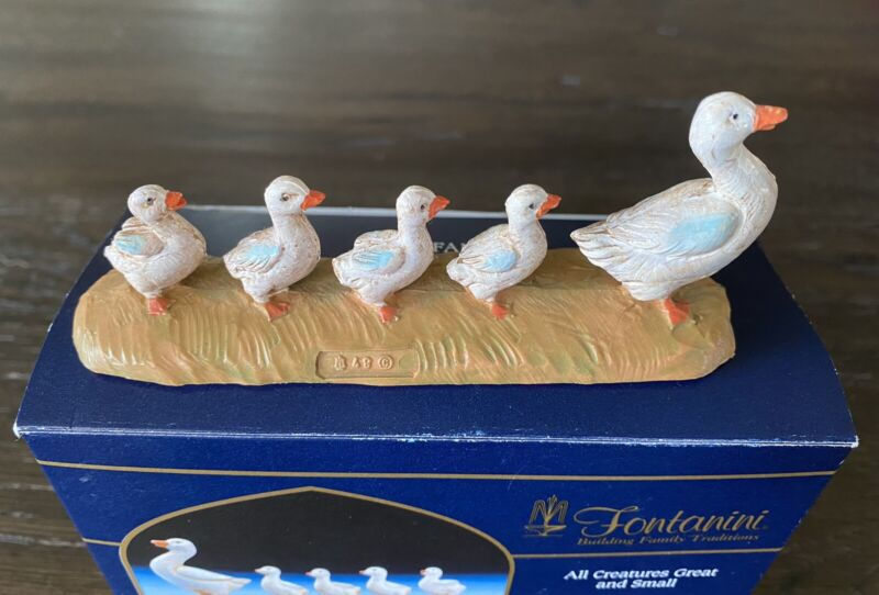 Fontanini Nativity All Creatures Great And Small Duck Family #51536 2002