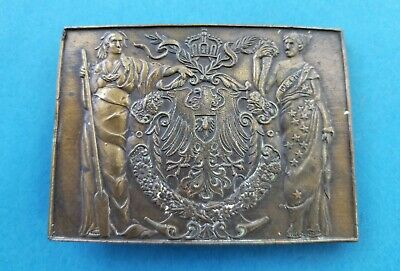 Brass Belt Buckle Man in Toga Lady Liberty in Toga Phoenix Crown Floral Wreath](Men In Toga)